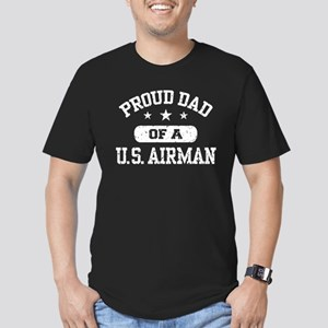 Proud Dad of a US Airman Men's Fitted T-Shirt (dar