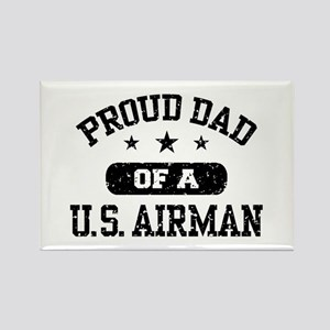 Proud Dad of a US Airman Rectangle Magnet