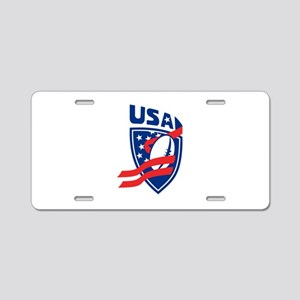 American USA Rugby Aluminum License Plate
