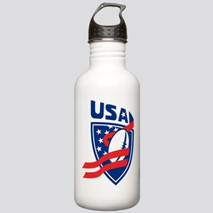 American USA Rugby Stainless Water Bottle 1.0L