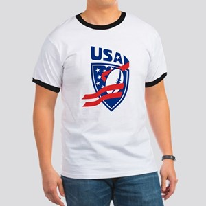 American USA Rugby Ringer T