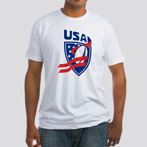 American USA Rugby Fitted T-Shirt