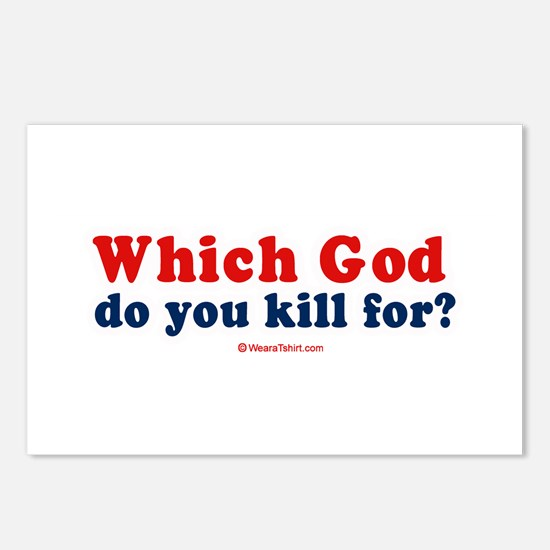 Which God do you kill for? -  Postcards (Package o