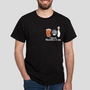I Bowl Therefor I Am Logo 10 Dark T-Shirt Design F