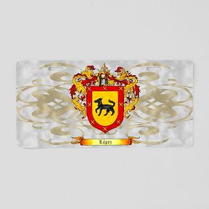 Lopez Coat of Arms Light Aluminum License Plate