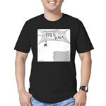 Free Ham (No Text) Men's Fitted T-Shirt (dark)