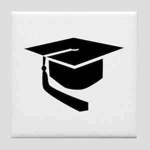 Graduation hat Tile Coaster