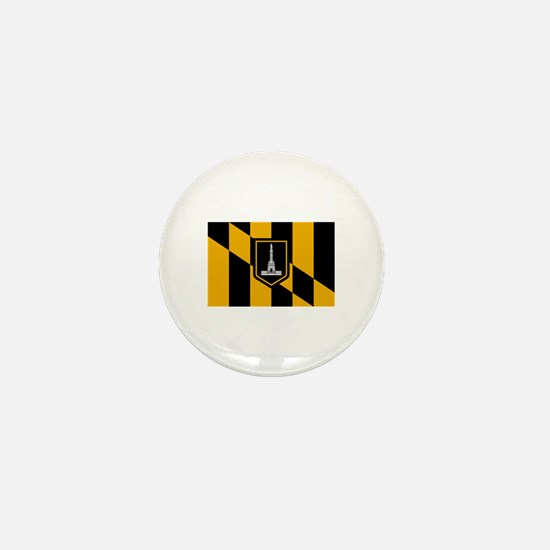 Baltimore City Flag Mini Button