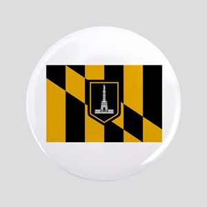 """Baltimore City Flag 3.5"""" Button (100 pack)"""