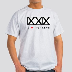 Bowling, I Love Turkeys Light T-Shirt