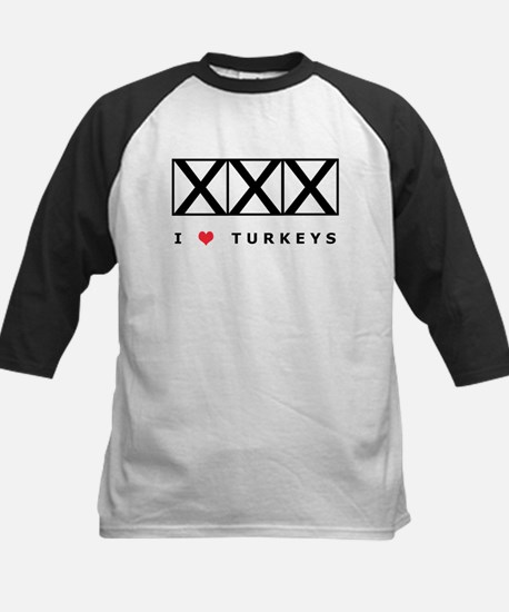 Bowling, I Love Turkeys Kids Baseball Jersey