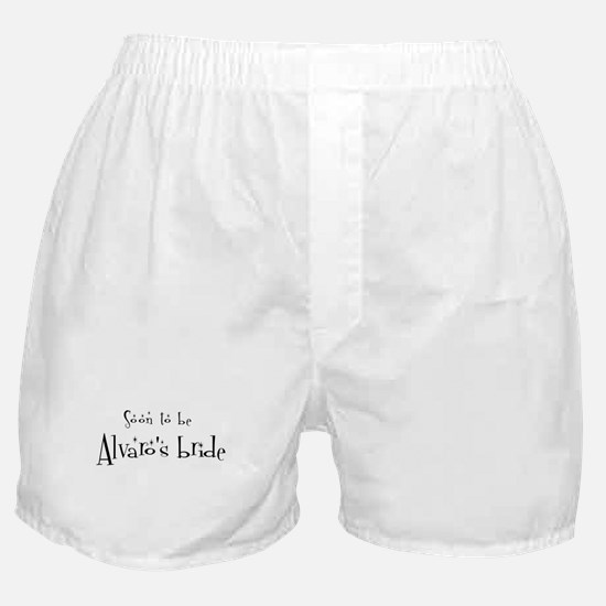 Soon Alvaro's Bride Boxer Shorts