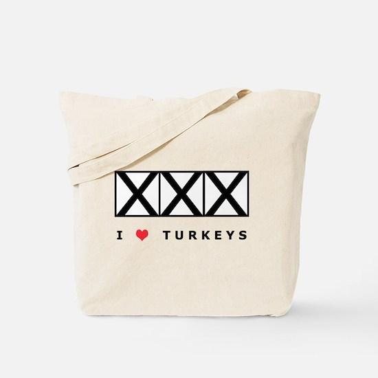 Bowling, I Love Turkeys Tote Bag