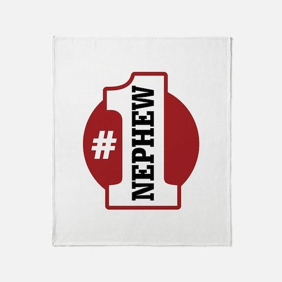 #1 Nephew Throw Blanket