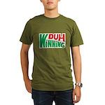 Duh Winning Organic Men's T-Shirt (dark)