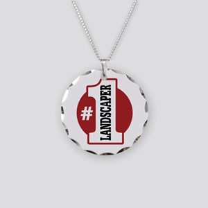 #1 Landscaper Necklace Circle Charm