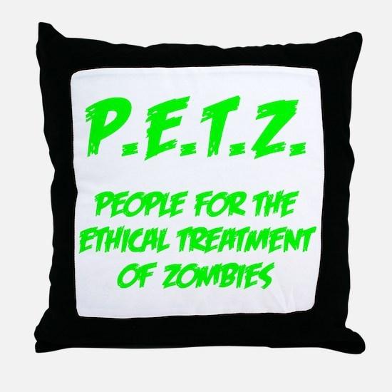 Green P.E.T.Z. Throw Pillow