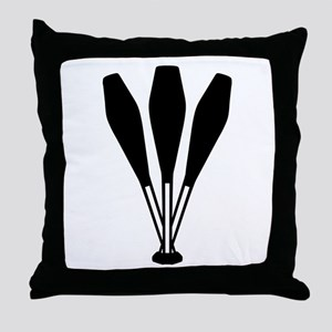 Juggling pins Throw Pillow