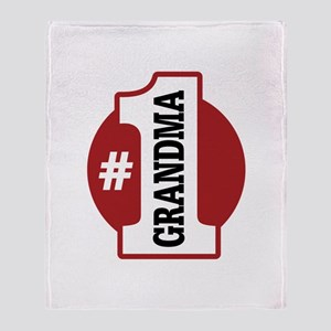 #1 Grandma Throw Blanket