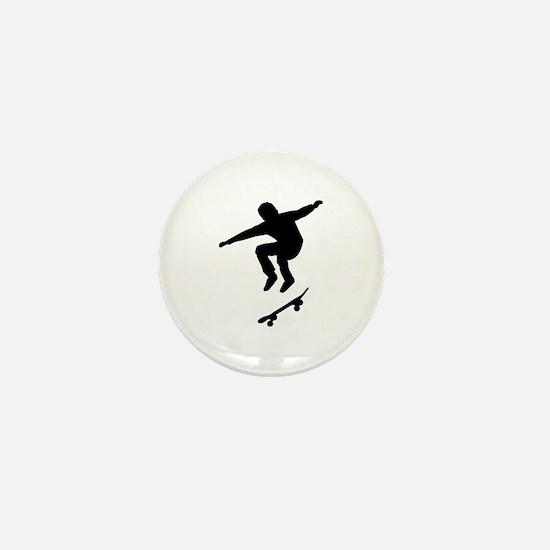 Skateboarder Mini Button