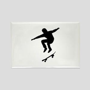 Skateboarder Rectangle Magnet
