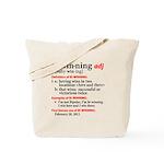 Bi-Winning Definition Tote Bag