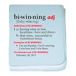 Bi-Winning Definition baby blanket