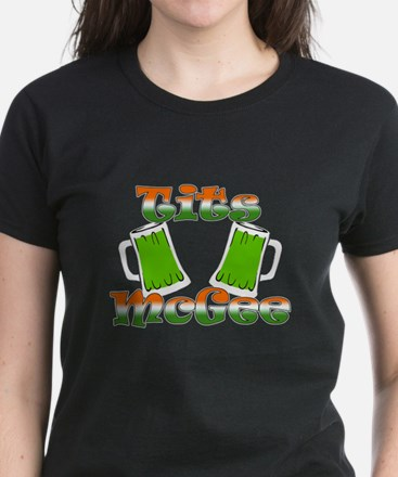 TITS MCGEE - D IRISH GRADIENT Women's Dark T-Shirt