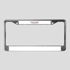War never solved anything -  License Plate Frame