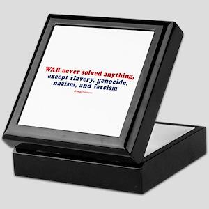 War never solved anything - Keepsake Box