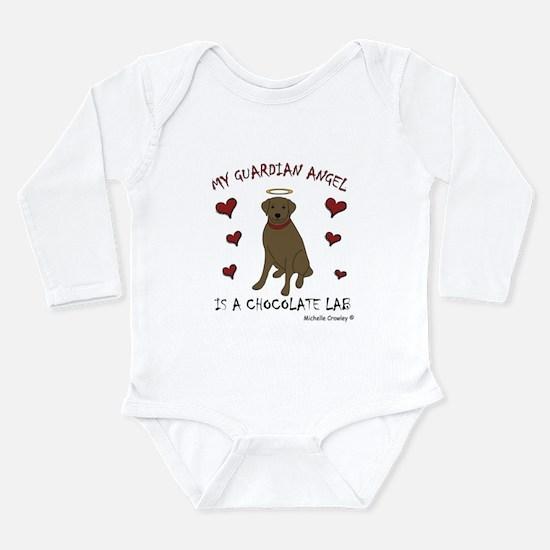 chocolate lab Long Sleeve Infant Bodysuit