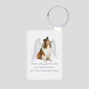 Sheltie Angel Keychain