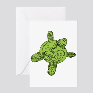 Turtle Robot Greeting Card