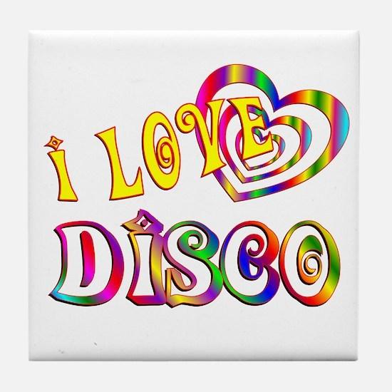 I Love Disco Tile Coaster