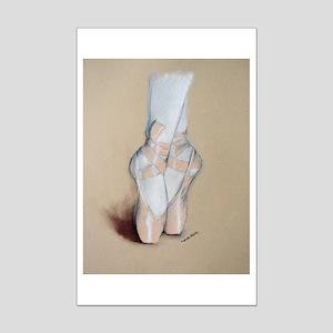 Ballet Pointe Shoes Mini Poster Print