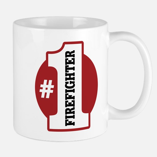 #1 Firefighter Mug