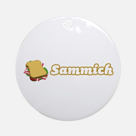 Sammich Ornament (Round)