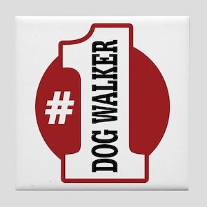 #1 Dog Walker Tile Coaster