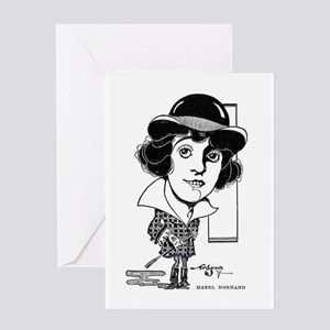 Mabel Normand 1917 caricature Greeting Card