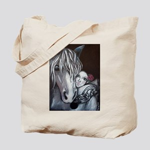 Pierrot and Horse Tote Bag