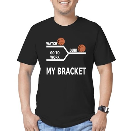 March Madness Skip Work Men's Fitted T-Shirt (dark