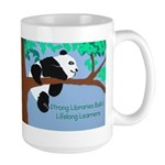 Panda Loves Libraries Large Mug