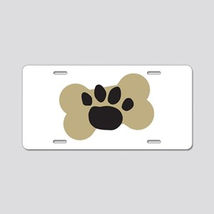 Dog Lover Paw Print Aluminum License Plate