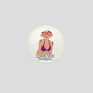 Zombie Nerd Goddess. Mini Button
