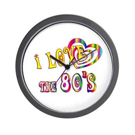 I Love the 80s Wall Clock