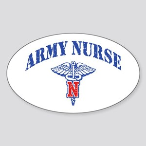Army Nurse Sticker (Oval)