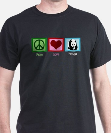 Peace Love Pandas T-Shirt