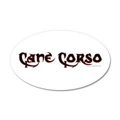 Cane Corso 38.5 x 24.5 Oval Wall Peel