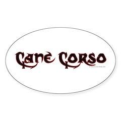 Cane Corso Sticker (Oval)