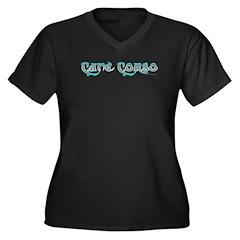 Cane Corso Women's Plus Size V-Neck Dark T-Shirt